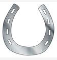 lucky isolated metal horseshoe vector image