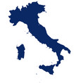 map italy in blue colour vector image vector image