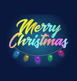 merry christmas holiday colorful text title with vector image