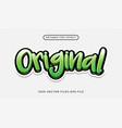 modern 3d graffiti style text effect premium vector image vector image