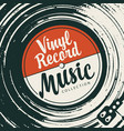 music poster with vinyl record and player vector image vector image
