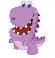 nice cartoon dinosaur vector image vector image