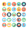 Office Colored Icons 2 vector image vector image