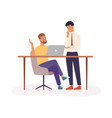 office work partnership flat vector image vector image