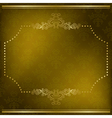 olive card with gold frame vector image vector image