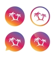 Palm Tree sign icon Travel trip symbol vector image vector image