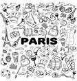 Paris line art design vector image vector image