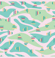 pink green abstract landscape seamless pattern vector image