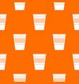plastic office waste bin pattern seamless vector image vector image