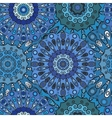 Print Blue colored seamless pattern with eastern vector image vector image