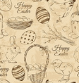 retro seamless pattern easter symbols vector image vector image