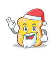 santa slice bread cartoon character vector image vector image