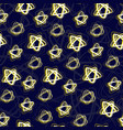 seamless pattern with night star sky dark blue vector image vector image