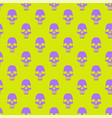 seamless pattern with violet skulls on yellow vector image