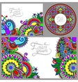 set floral decorative background vector image