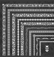 set of corner borders and frames on chalkboard vector image vector image