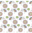 set of icons kawaii character vector image