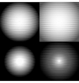 Set of Retro Parallel Halftone Lines texture vector image
