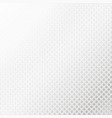 silver halftone background vector image vector image