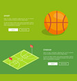sport stadium posters with basketball playground vector image