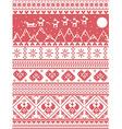 Tall Xmas pattern santas sleigh reindeers vector image vector image