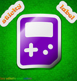 Tetris icon sign Symbol chic colored sticky label vector image vector image