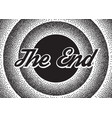 The end screensaver in retro stypple style vector image