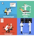 Themed pictures on the topic of medical and health vector image
