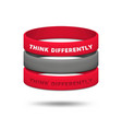 think differently concept be different and vector image vector image
