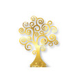 tree life tree natural logo gold leaf style vector image vector image