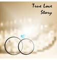 true love with two weddings rings vector image