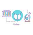 urology concept icon vector image vector image