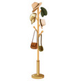 vintage hats and bags on a hanger stand on white vector image