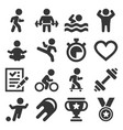 wellness sport and fitness icons set vector image vector image