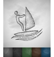 windsurfing icon vector image vector image
