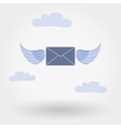 Winged Mail Envelope vector image