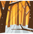 Winter in the Forest vector image vector image