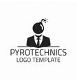 Pyrotechnics logo template vector image
