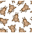 Seamless Funny Cartoon Monkey vector image