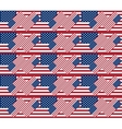 Patriotic USA seamless pattern background texture vector image