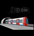 abstract low-polygonal metro train vector image