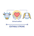 animal welfare protection concept icon voluntary vector image vector image
