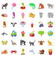 animal zoo icons set cartoon style vector image vector image