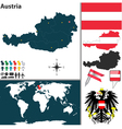 Austria map world vector image vector image