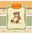 birthday card with a teddy bear vector image