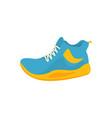 blue and yellow sport shoes icon in flat style vector image vector image