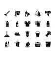 cleaning solid icons 2 vector image vector image