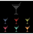 Coctail icon set vector image vector image