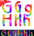 Colorful font of patches vector image vector image