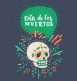 dia de los muertos day dead sugar skull vector image vector image